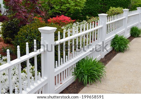 Elegant Garden Fence - stock photo