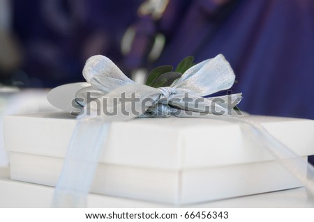 Elegant gift box with bow and ribbon