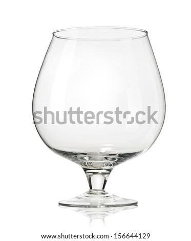 elegant glass isolated on white background. With clipping path