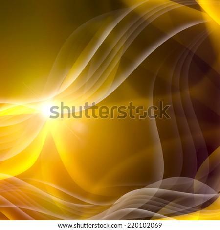 elegant golden abstract background with crossed lines - stock photo