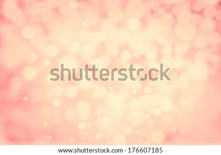 Elegant Golden Festive Blurred background. Abstract twinkled bright background with bokeh defocused blur gold lights. Valentines Day, Party, Christmas background.  - stock photo