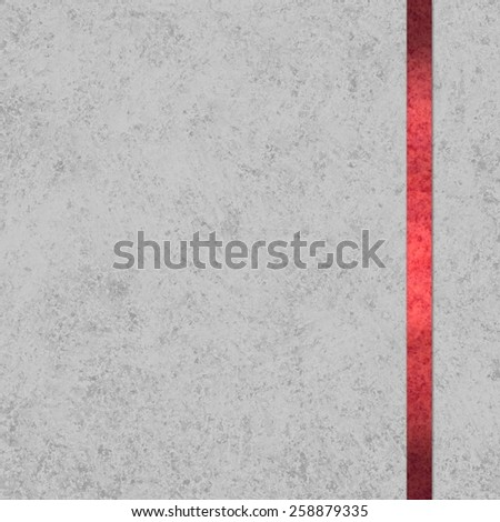 elegant gray background paper with red ribbon accent - stock photo