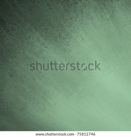 elegant green background with smeared, sponged, gradient color contrast, antique grunge texture, and copy space to add your own text or title - stock photo