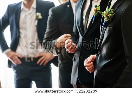 elegant groom - stock photo