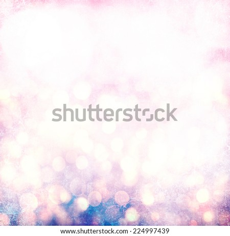 Elegant Grunge Silver, Gold, Pink Christmas Light Bokeh - stock photo