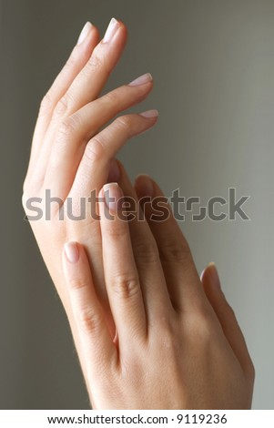 Elegant Hands - stock photo
