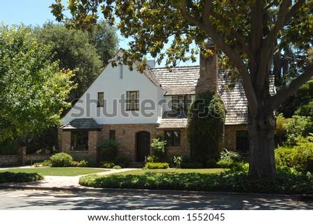 Elegant home, Palo Alto, California - stock photo