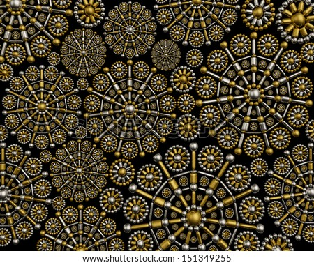 Elegant jewelry background. Luxury artistic ornament design - stock photo