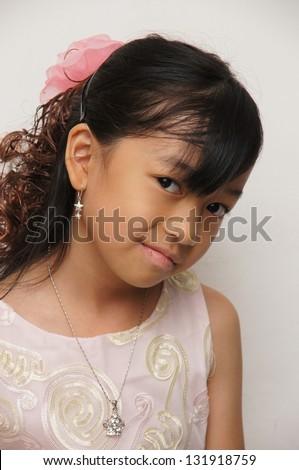 Elegant Little Girl - stock photo