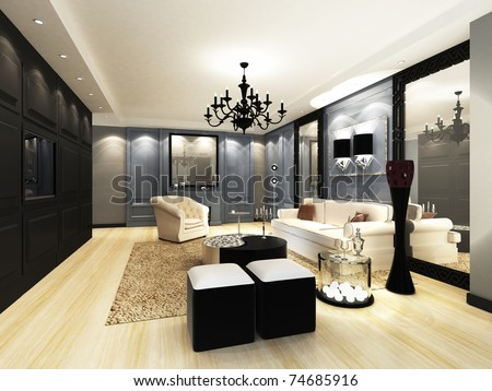 Elegant Living room - stock photo