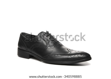 Elegant man leather shoe on white background