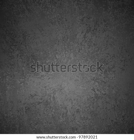 elegant monochrome black and white background with abstract sponge grunge texture with dark border and soft gray center spot light and detail textured canvas with copyspace - stock photo