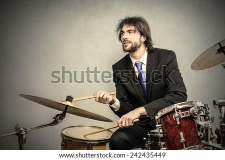 Elegant musician  - stock photo