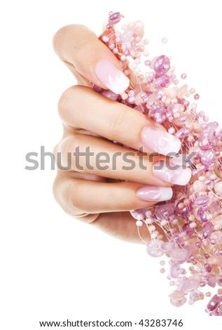 Elegant nail design - stock photo
