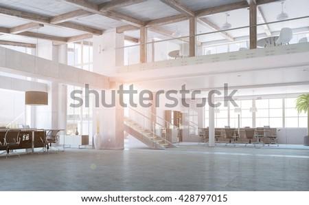 Elegant office interior - stock photo