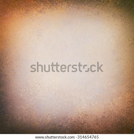 elegant old white paper background texture paper, dark rustic grunge border paint design - stock photo