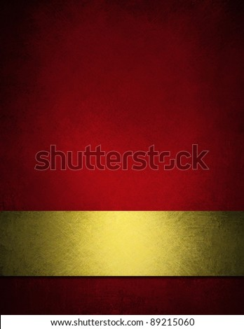 elegant red and gold Christmas background with vintage grunge texture and vignette border with copy space for text or ad - stock photo