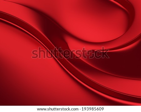 Elegant red metallic background with curves and space for text - stock photo