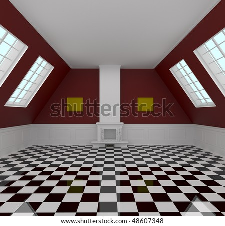 Elegant room - 3d illustration