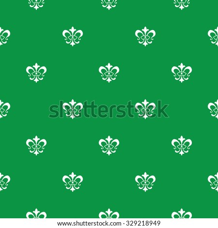 Elegant seamless pattern design with fleur de lis symbols, high resolution repeating textured background image for all web and print purposes. - stock photo