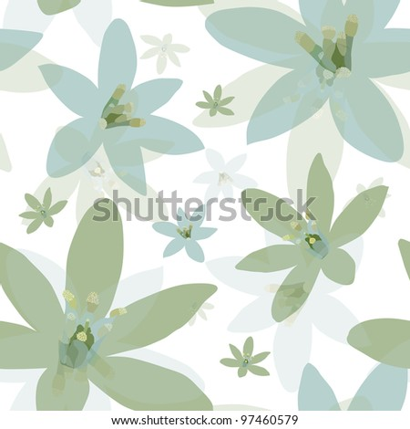 elegant seamless pattern with beautiful lily flowers for your design