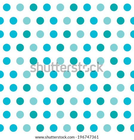 elegant seamless pattern with blue polka dots, design element. Marine background. Scrapbooks, baby shower and wedding cards background - stock photo