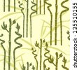 elegant seamless pattern with lucky bamboos for your design - stock