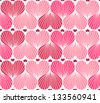 elegant seamless pattern with pink hearts for your design - stock vector