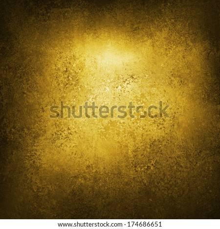 elegant sophisticated yellow gold background, rustic antique or vintage grunge background texture design with black border, product label or website template background, brochure ad or poster canvas - stock photo