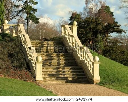 Elegant Stone Stairway - stock photo