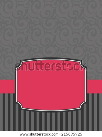 Elegant Striped Notecard-notecard to use for birthday wishes or party invitations - stock photo
