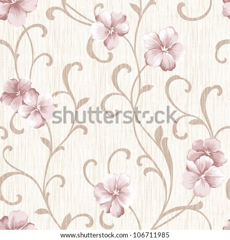 Elegant  style  seamless pattern background -  For easy making seamless pattern use it for filling any contours - stock photo