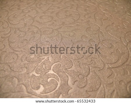 Elegant subtle decorative  christmas paper surface close up. More of this motif & more decors in my port. - stock photo