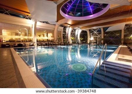 Elegant swimming pool - stock photo