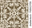 elegant symmetric ornamental pattern - stock photo