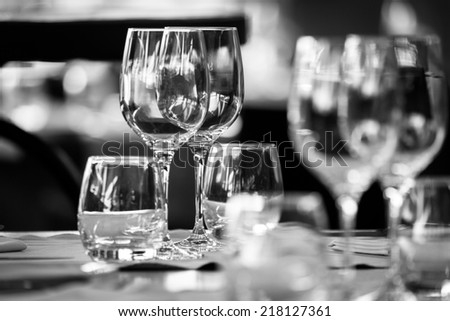 Elegant table set - stock photo