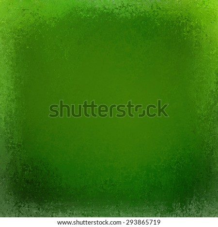 elegant vintage background with shabby borders, green background - stock photo
