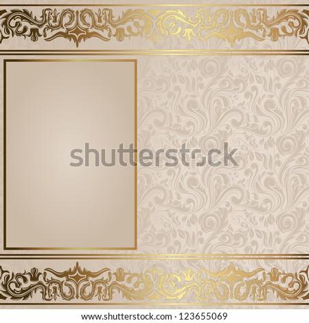 Elegant vintage card - stock photo