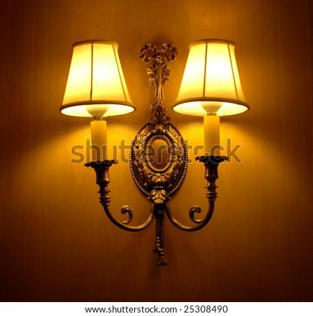 elegant wall lamp - stock photo