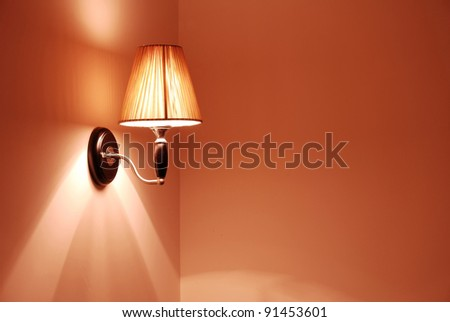 elegant wall lamp - stock photo