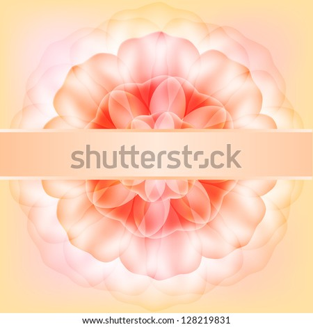 Elegant Wedding Card. Raster copy of vector image - stock photo
