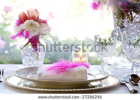 Elegant Wedding Setting - stock photo