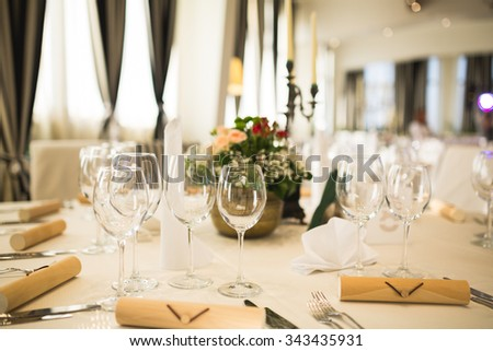 Elegant Wedding table decoration