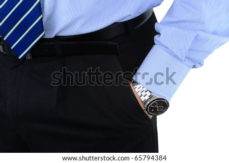Elegant well-dressed businessman - stock photo