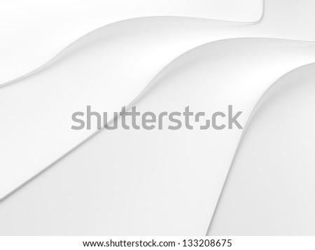 Elegant white background with 3 flowing lines and space for text - stock photo