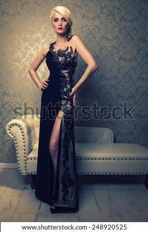 elegant woman - stock photo