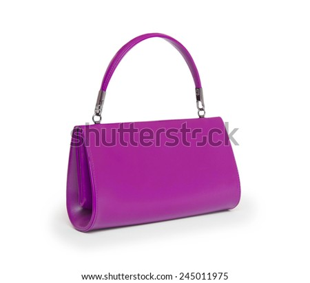 Elegant woman bag on white
