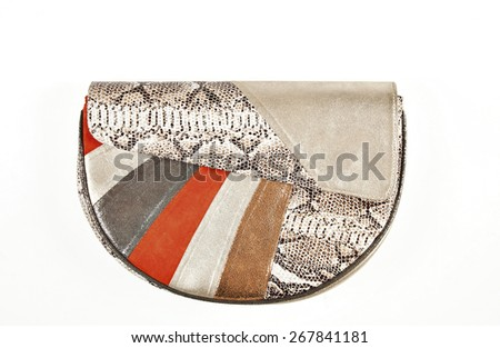 Elegant women bag isolated over white - stock photo