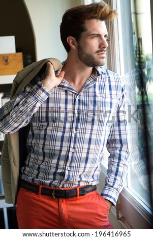 Elegant young handsome man. Fashion portrait.  - stock photo