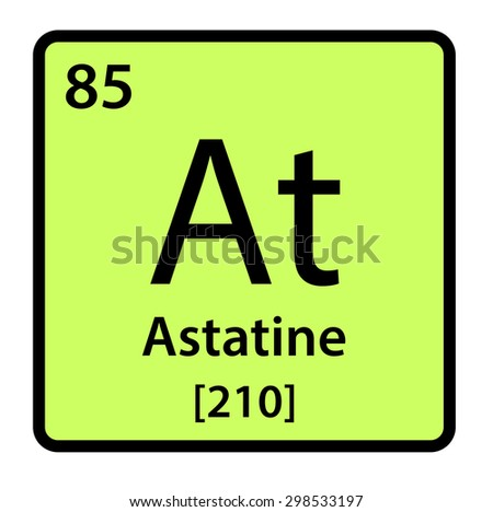 Element astatine periodic table stock illustration 298533197 element astatine of the periodic table urtaz Gallery